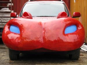 Hippo Art Car Under Construction